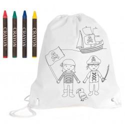 Sac à dos Pirates à colorier, produit d'accueil enfant