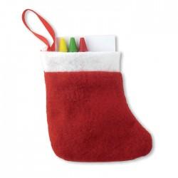 Botte de Noël avec coloriage