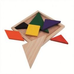 Puzzle Tangram bois