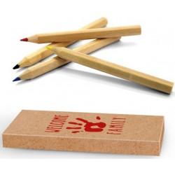 Produits d'accueil enfant : lot de cahiers de coloriage et crayons