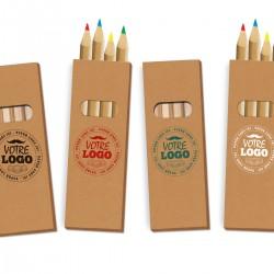 Boite de 4 crayons personnalisé, personnalisable avec logo