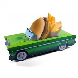 Boîte pour menu enfant Cadillac verte, Welcome Family