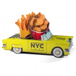 Boîte pour menu enfant Cadillac Taxi Nyc, welcome family