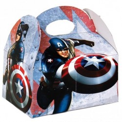 Boîte pour menu enfant Captain America