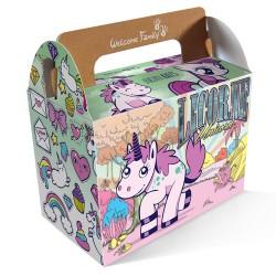 Boîte pour menu enfant modèle Licorne, welcomefamily