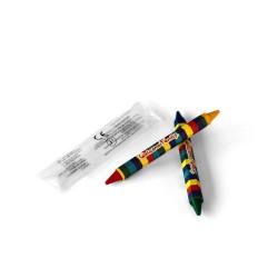 Sachet 2 crayons 4 couleurs, crayons pour restaurant, coloriage pour menu enfant