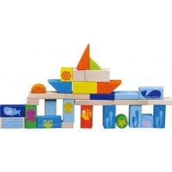 """Blocs de construction """"Monde sous-marin"""" - Jeu de construction pour hôtel, camping, club de vacances, restaurant"""