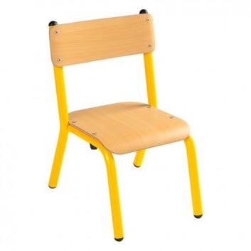 Chaise à ossature métallique, mobilier enfant pour les collectivités