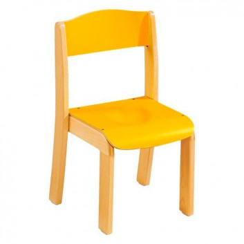 Chaise en bois, mobilier accueil enfant pour les professionnels