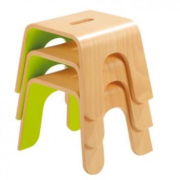 Tabouret en bois, équipement d'accueil enfant pour les hôtels, restaurants
