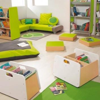Meuble de rangement simple, mobilier enfant pour hôtel, restaurant, école