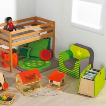 Meuble de rangement double, mobilier enfant pour hôtel, restaurant, école