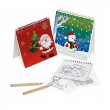 Bloc coloriage Noël - Produit d'accueil enfant noël pour les hôtels, restaurant