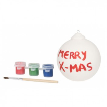 Kit décoration de Noël à peindre, kit d'accueil enfant