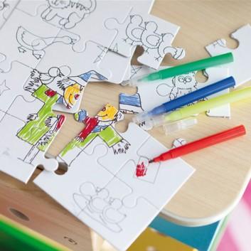 Le puzzle à colorier, un jouet surprise enfant pour les hôtels, restaurants