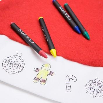 Bonnet de Noël à colorier pour les enfants dans les restaurants