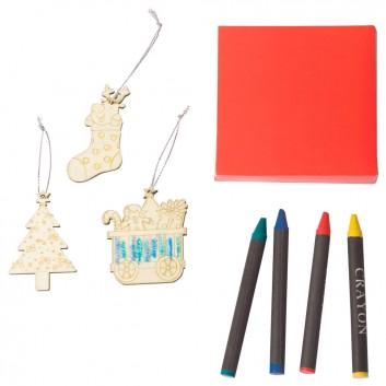 Pendentif de Noël à colorier, produit d'accueil enfant