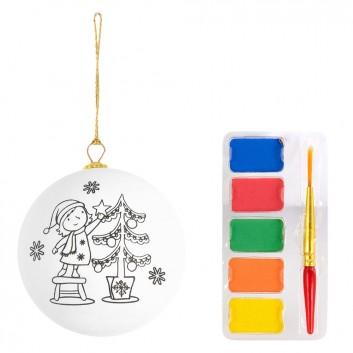 Boule de Noël à colorier, produit d'accueil enfant