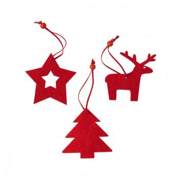 Set de 3 figurines de Noël, accessoire de décoration pour les CHR