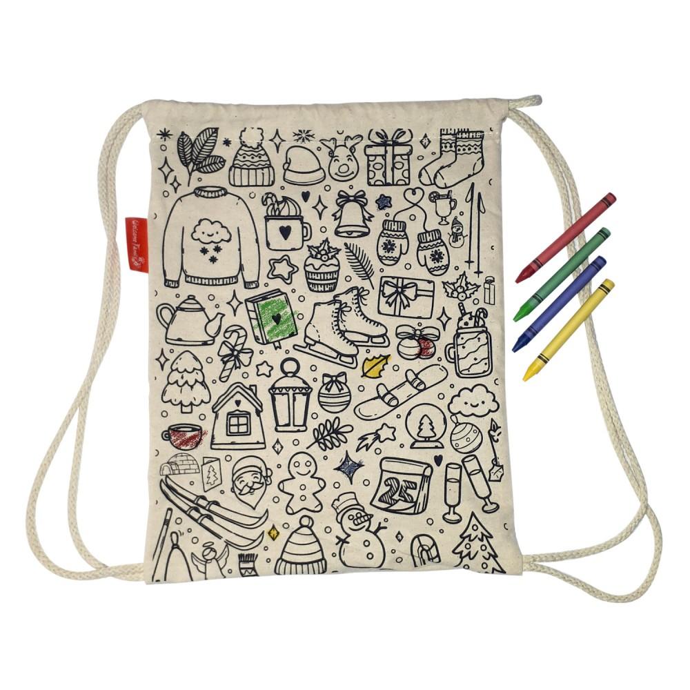 Sac à colorier, un produit d'accueil enfant pour les hôtels et restaurants