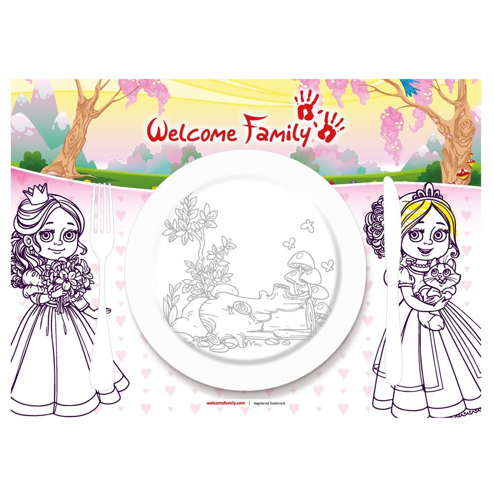 Set de table à colorier Princesse