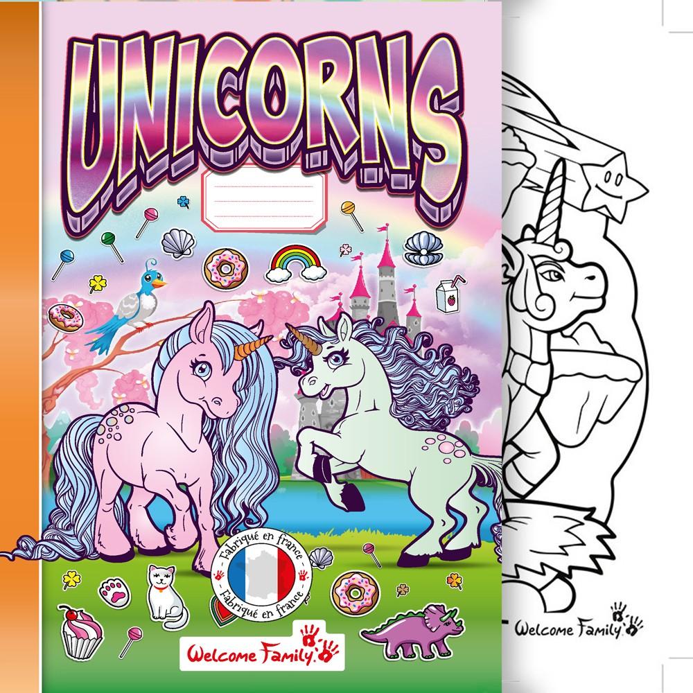 Cahier De Coloriage Licorne Produit D Accueil Enfant