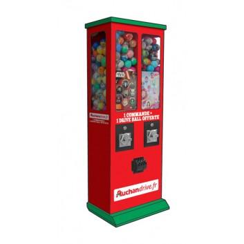 Machine à boules personnalisée pour Auchan Drive
