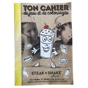 Cahiers de coloriage pour menu enfant Steak n shake