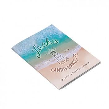 Exemple de cahiers personnalisé pour menu enfant Jack express