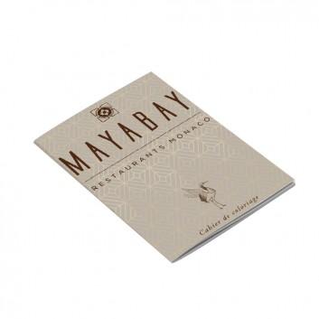 Cahier personnalisé pour l'établissement Mayabay, à offrir aux enfants dans les hôtels