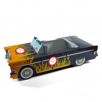 Cadillac flamme boite pour menu enfant