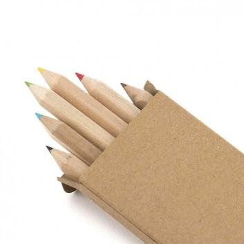 Boite de 6 crayons de couleur en bois, produit d'accueil enfant