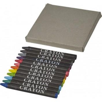 Boîte de 12 crayons cire pour les enfants dans les hôtels, restaurants
