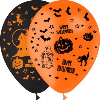 Lot de 100 ballons d'Halloween pour les hôtels, restaurants