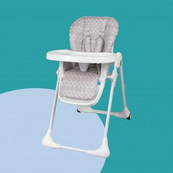 chaise haute blanche télescopique avec plateau pour bébé