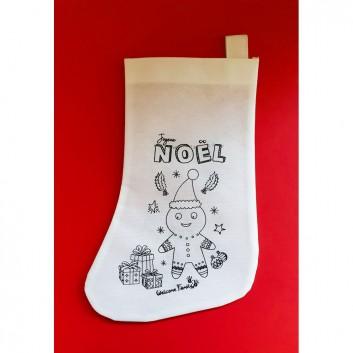 Sachet pour menu enfant à emporter et chaussettes de Noël