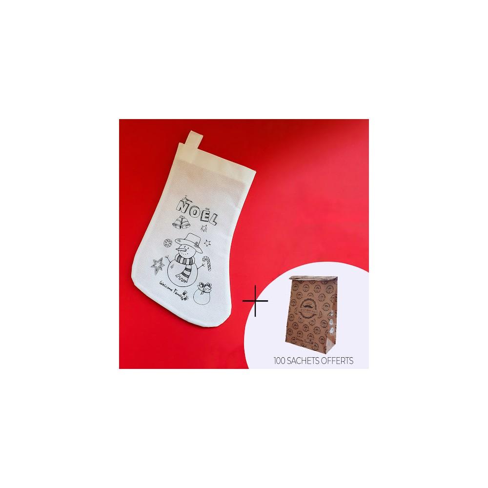 Pack menu enfant Noël pour la livraison : chaussettes Noël et sachets OFFERT