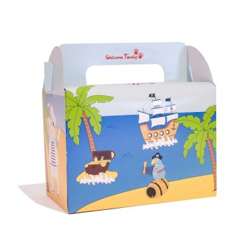 Caja de menú infantil Tesoro Piratas