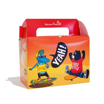 Boîte pour menu enfant Skate