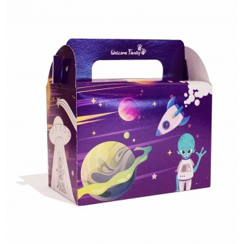 Boite menu enfant modèle space