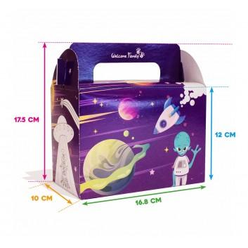 Dimensions de la boite menu enfant space