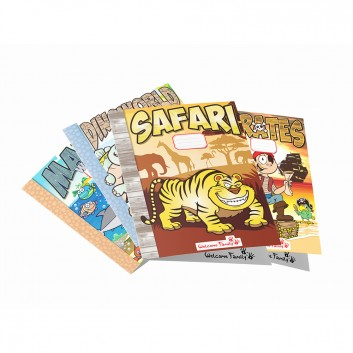 Cahiers de coloriage sur les thèmes préférés des enfants