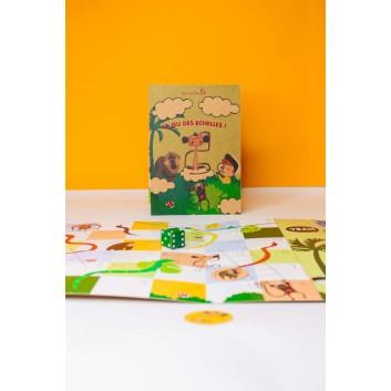 jeu de l'échelle pliable, mini format pour le menu enfant - jeu éco responsable sans plastique