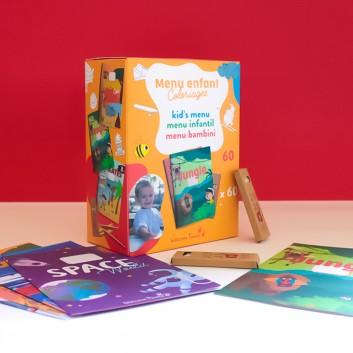 Conjunto de cadernos de colorir e lápis