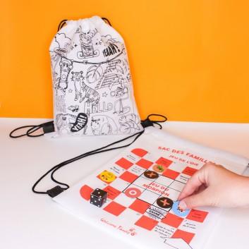 Sac duo : jeux et coloriages, produit d'accueil pour les enfants dans les hôtels et restaurants