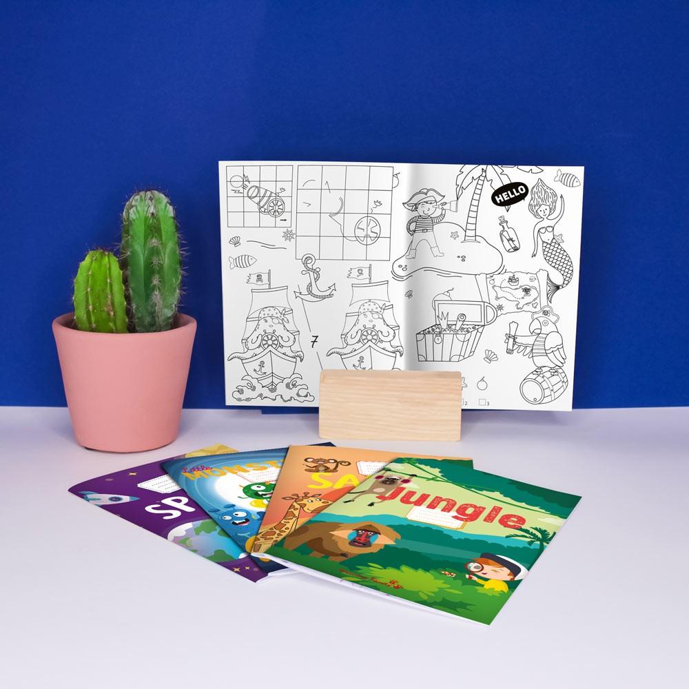 Cahiers de coloriage Panachés pour l'accueil des enfants dans les hôtels, restaurants