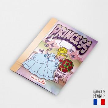 Coloriage princesse pour menu enfant au restaurant
