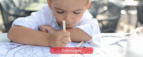 Coloriage pour les enfants dans les restaurants