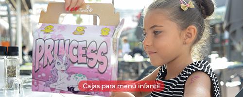 Cajas para menú infantil