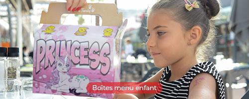 Boite menu enfant pour les snacks
